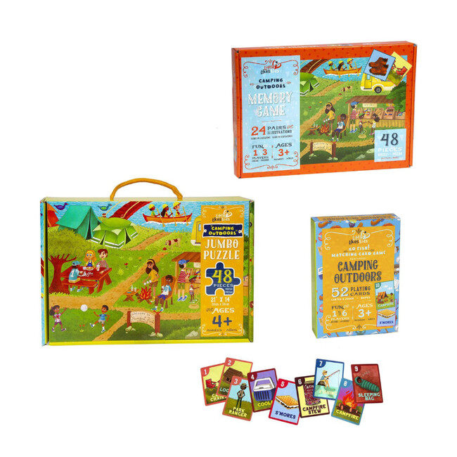 Camping Outdoors Puzzle and Game Play Pack