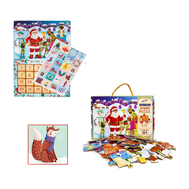 Countdown to Christmas Pack with Light-skinned Santa Calendar - Puzzles - 1