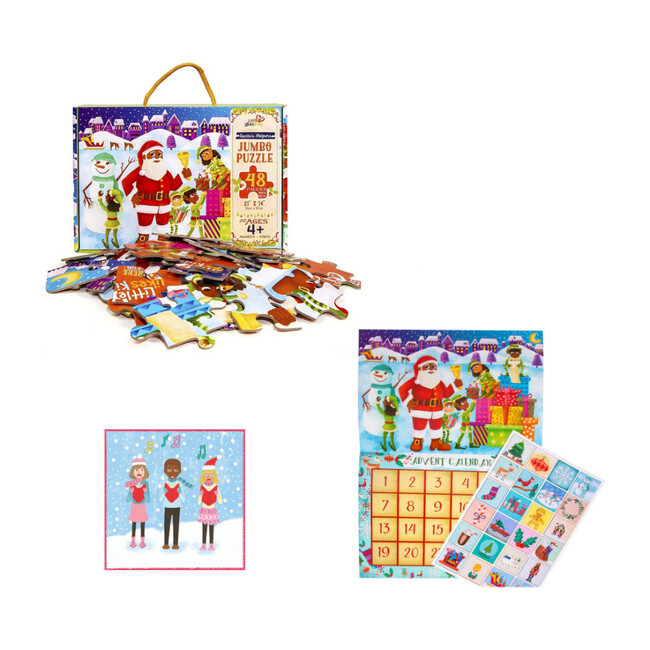 Countdown to Christmas Pack with Black Santa Calendar - Puzzles - 1