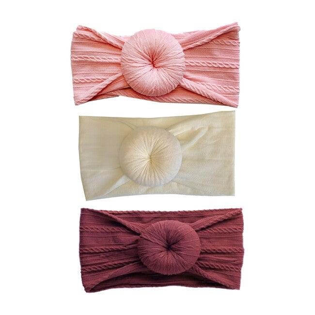 Valentine's Headband Set, Bun Headband Set - Hair Accessories - 1