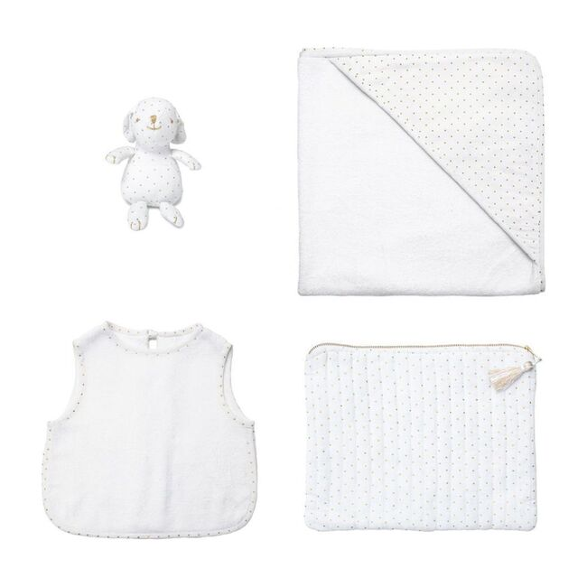 Bunny Apron Bib & Hooded Towel Gift Set