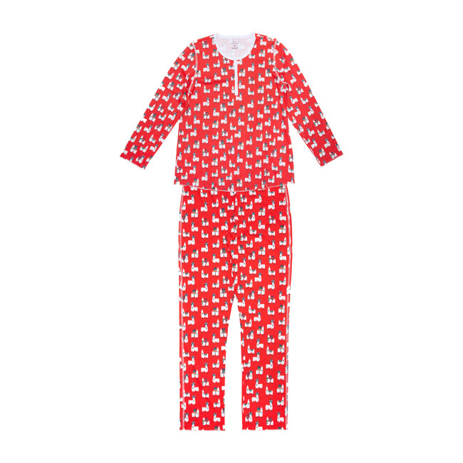 *Exclusive* Womens Fa-La-La Llamas Pajamas, Red