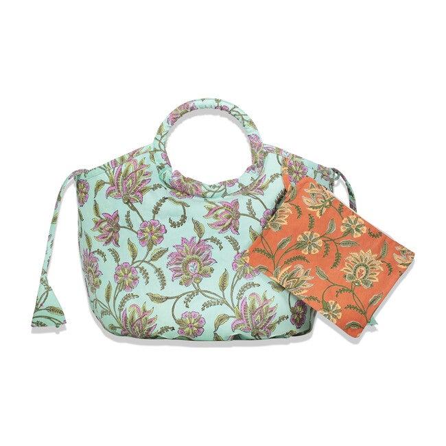Reversible Kids Byron Beach Mini Bag, Vine Floral