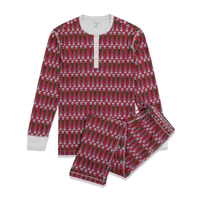 *Exclusive* Men's Jolly St. Nick Pajama Set, Red
