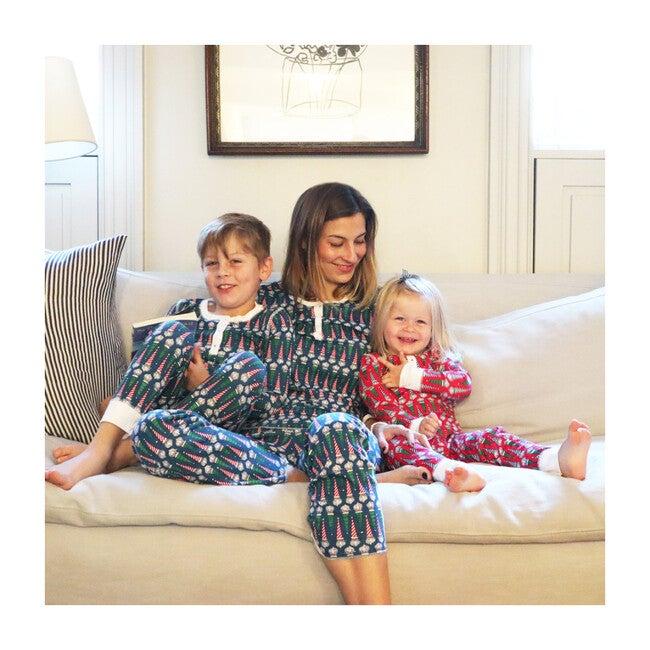 *Exclusive* Women's Jolly St. Nick Pajama Set, Blue