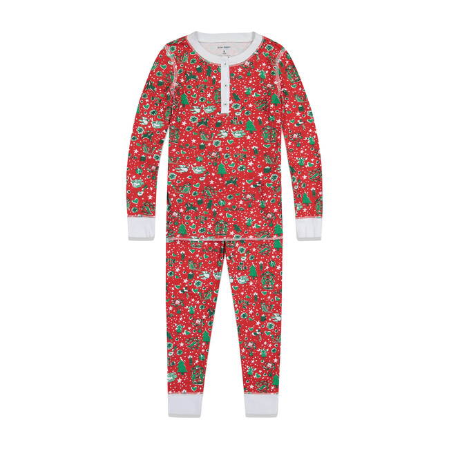 Red Kids Pajamas,Jingle Bell Rock