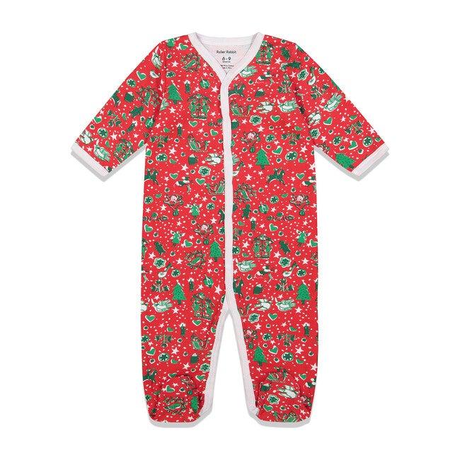 Red Baby Footie Pajamas, Jingle Bell Rock