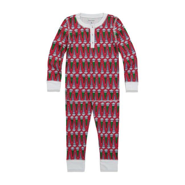 *Exclusive* Kids Jolly St. Nick Pajama Set, Red - Pajamas - 1