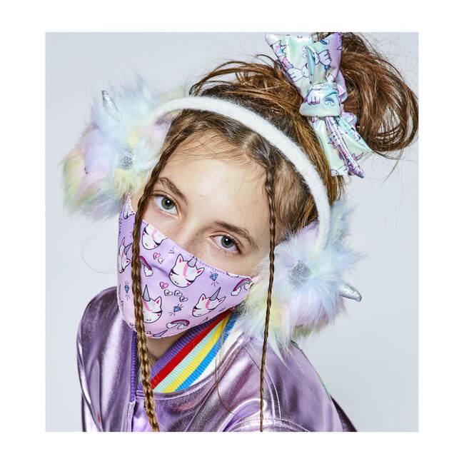 Unicorn Rainbow Print & Heart Love Printed 2pc Face Mask Set