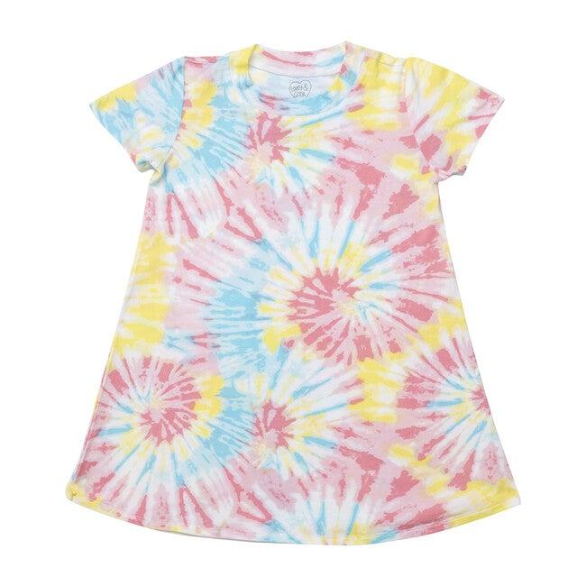 Lounge Dress, Cotton Candy Tie Dye