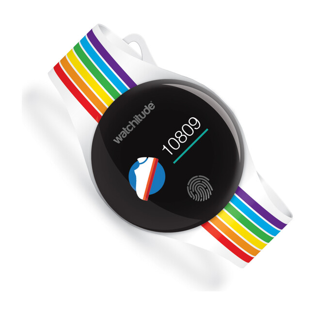 Move 2 Kids Activity Watch, Rainbow Stripes