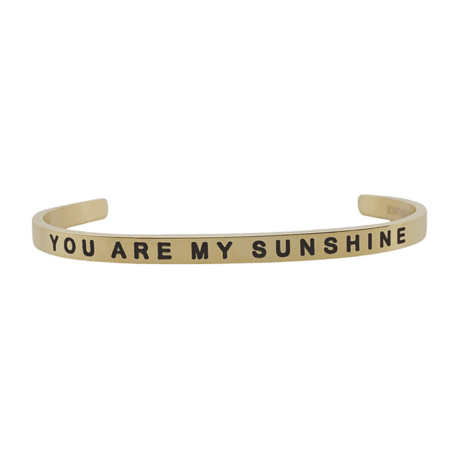 "Baby & Child ""You Are My Sunshine"" Bracelet, Gold"