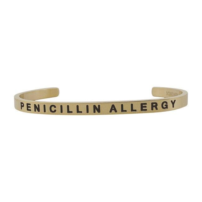 Baby & Child Penicillin Allergy Bracelet, Gold