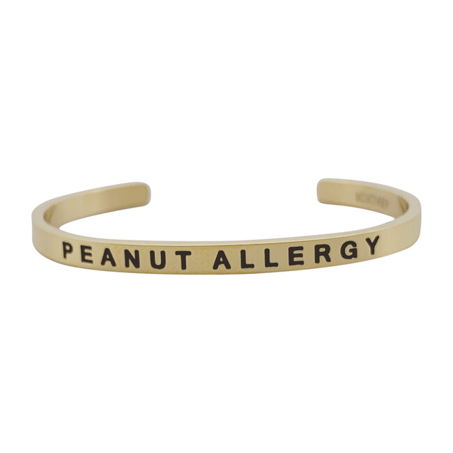 Baby & Child Peanut Allergy Bracelet, Gold