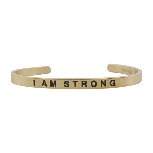 "Baby & Child ""I Am Strong"" Bracelet, Gold"