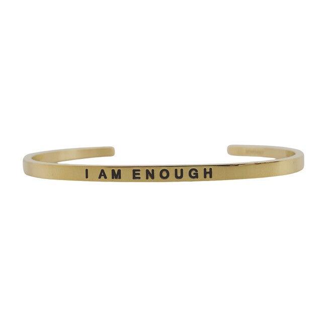 """Baby & Child """"I Am Enough"""" Bracelet, Gold"""