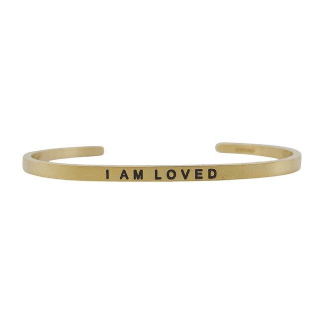 "Baby & Child ""I Am Loved"" Bracelet, Gold"