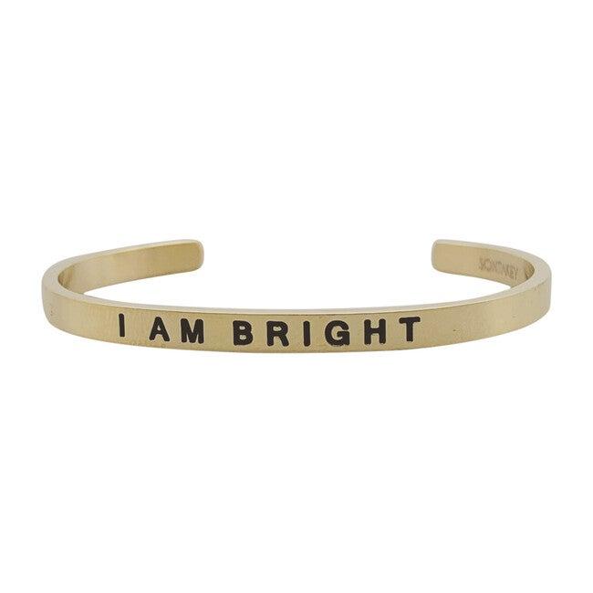 """Baby & Child """"I Am Bright"""" Bracelet, Gold"""