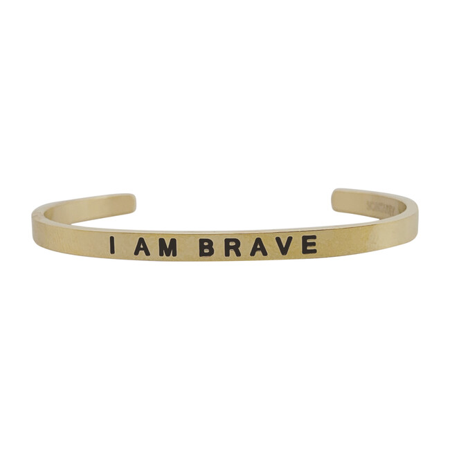 "Baby & Child ""I Am Brave"" Bracelet, Gold"
