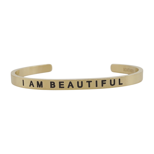 "Baby & Child ""I Am Beautiful"" Bracelet, Gold"