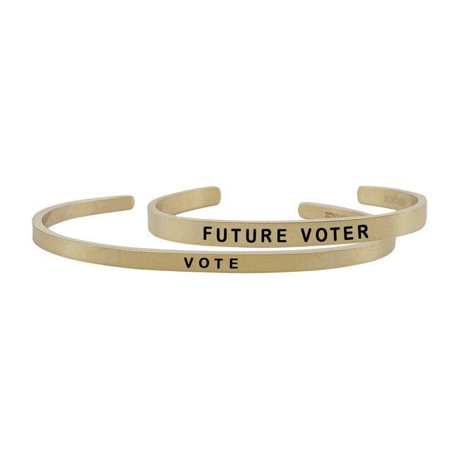 *Exclusive* Mommy & Me Vote Bracelet Set, Gold - Bracelets - 1