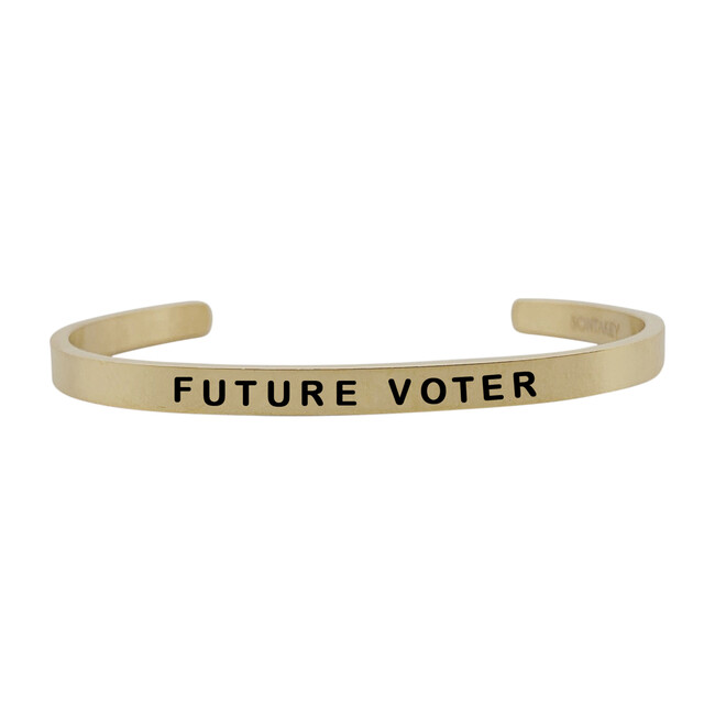 *Exclusive* Baby Vote Bracelet, Gold