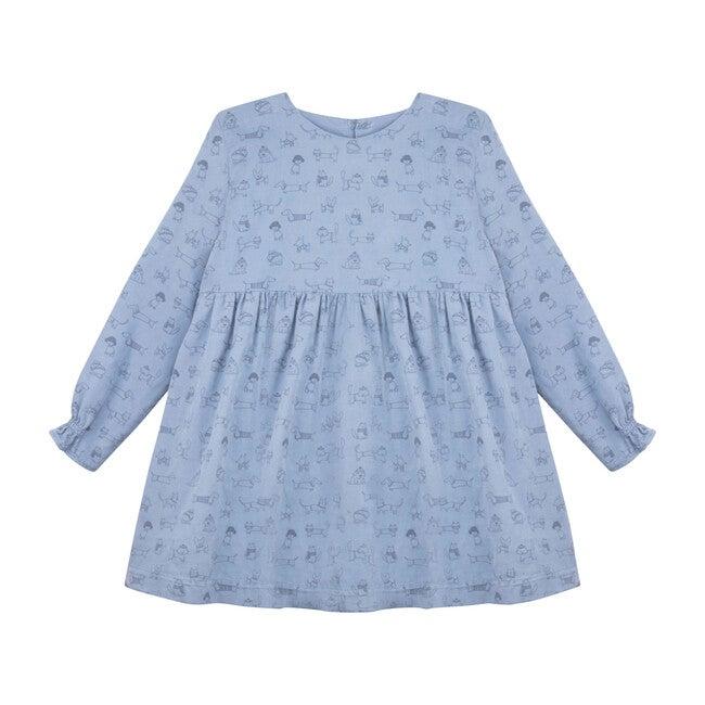 Atari Corduroy Dress, Blue