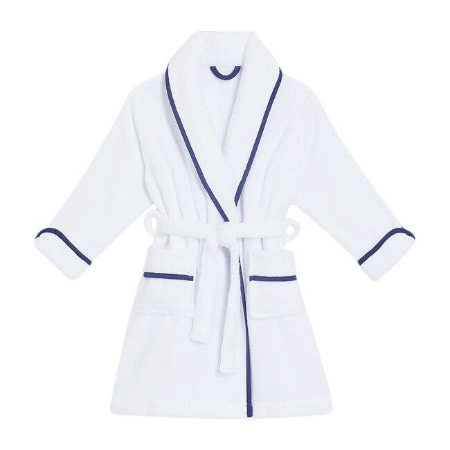 The Children's Hotel Robe, White/Navy