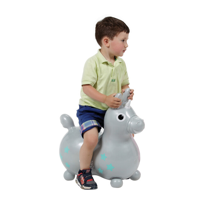 Rody Magical Unicorn with Pump, Silver