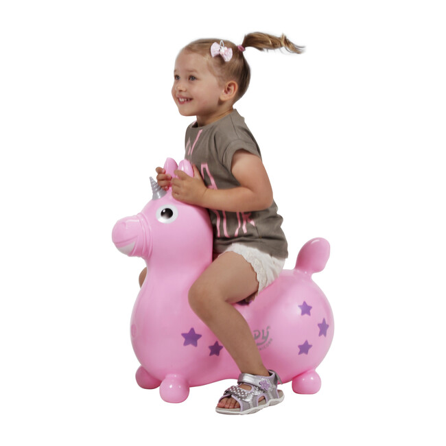 Rody Magical Unicorn with Pump, Pink