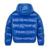 Oversized Boy's Luck Hooded Puffer Jacket, Twilight Blue