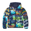 Colorful Print Oversized Boys Hooded Jacket In Mila