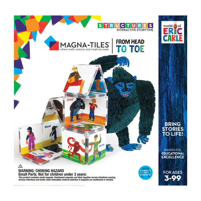 From Head to Toe Magna-Tiles Structures