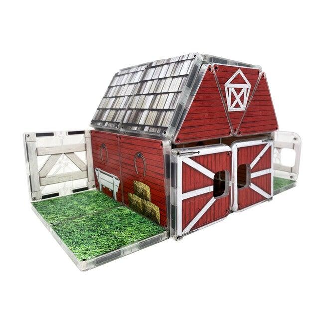 Farmyard Barn Magna-Tiles Structures