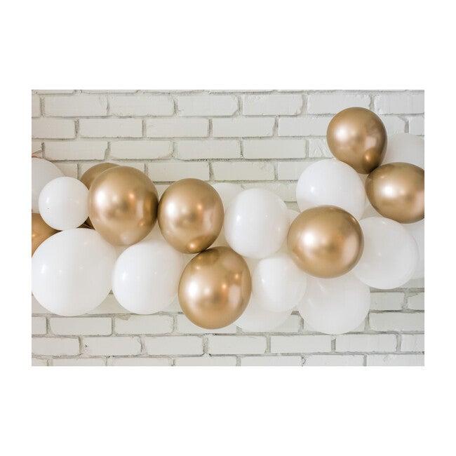 Balloon Garland Kit, Gold and White