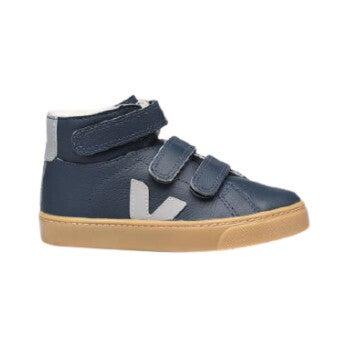 Esplar Mid Faux Fur Sneakers, Navy