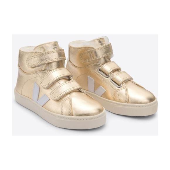 Esplar Faux Fur Sneakers, Gold