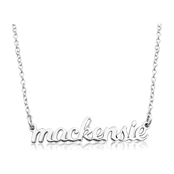 Sterling Silver Nameplate Necklace, 1 Name