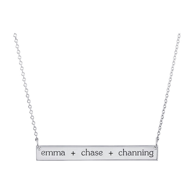 Engravable Sterling Silver Skinny Bar Necklace