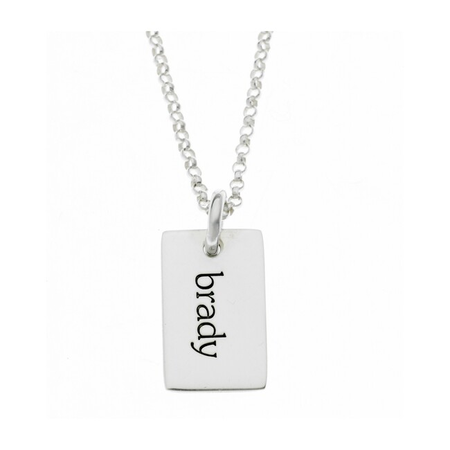 Engravable Sterling Silver Mini Dog Tag Necklace