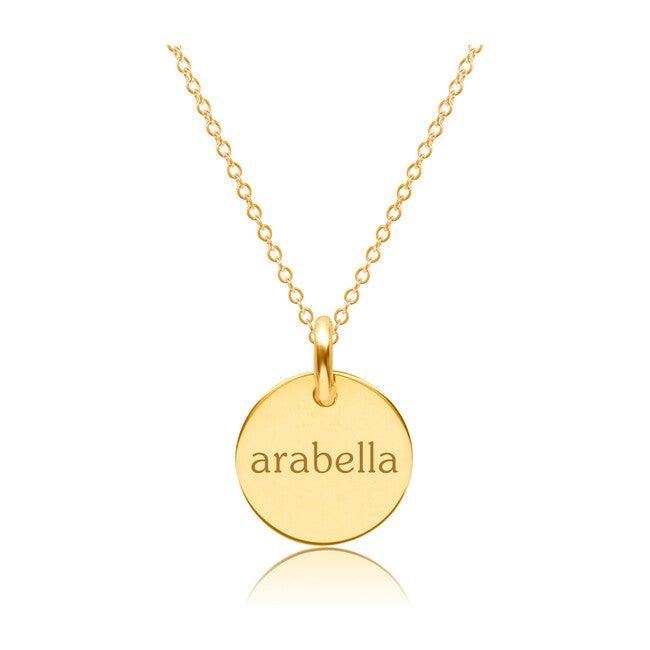 Engravable Gold Circle Necklace
