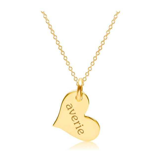 Engravable Gold Heart Necklace