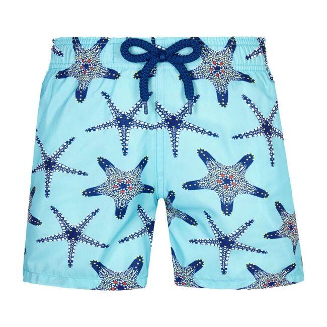 Jihin Starfish Dance Swim Trunks, Blue