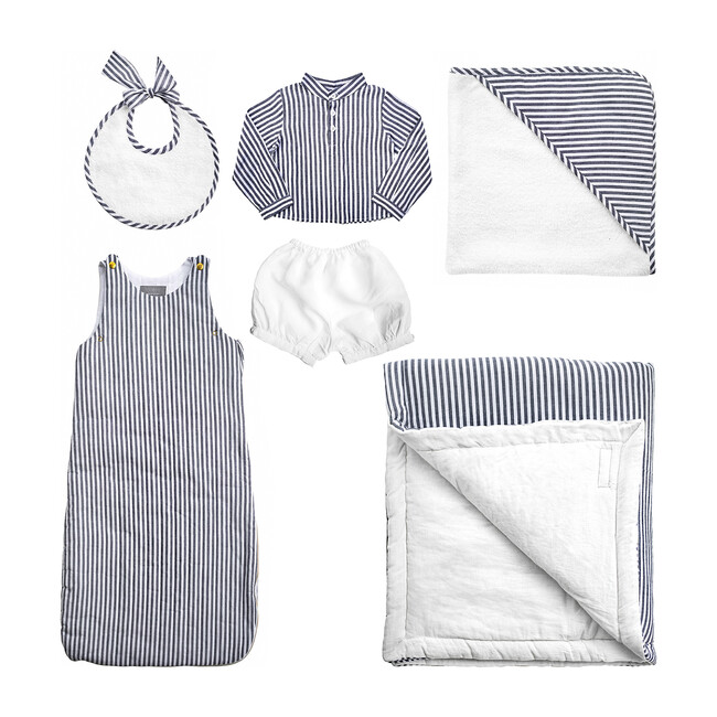 *Exclusive* Luxe Baby Gift Set, Harbour Island Stripe