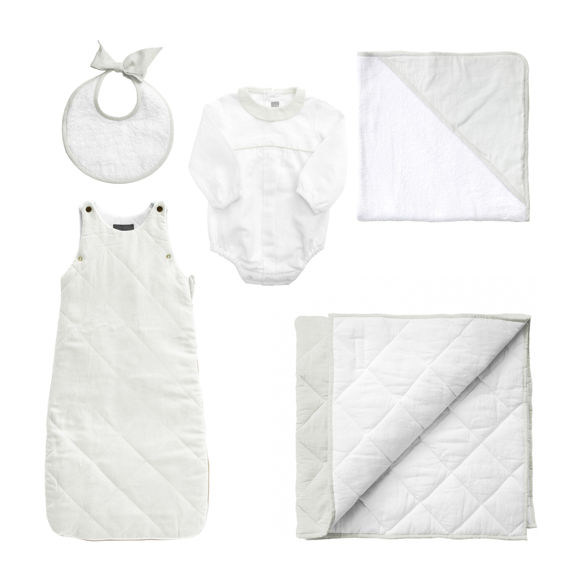 *Exclusive* Luxe Baby Gift Set, French Grey