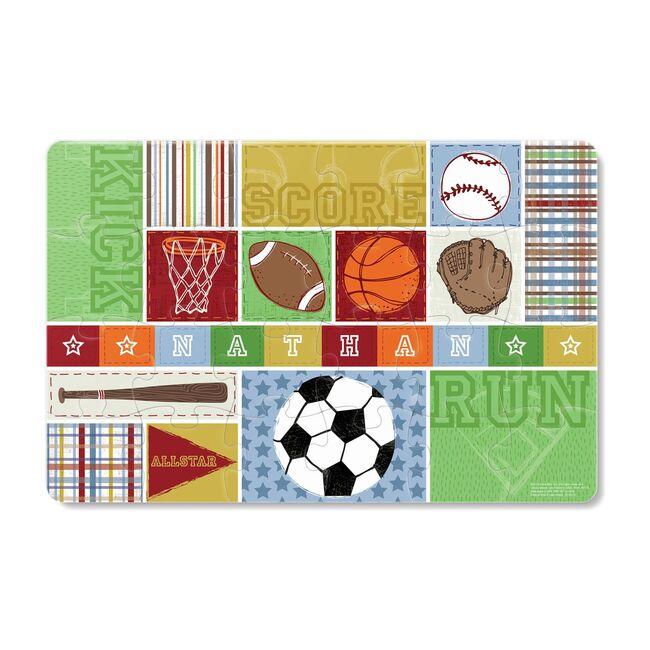 Kick, Score, Run 24-Piece Personalized Puzzle