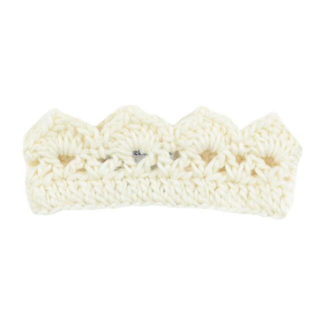 Avery Hand-Crochet Crown Cream