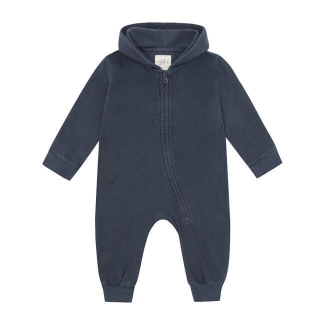 Organic Cotton Jumpsuit, Natural Stone Blue & Palmetto Dye