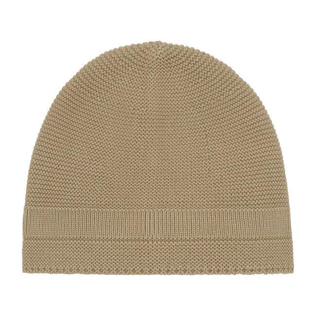 Organic Knit Hat, Natural Orange