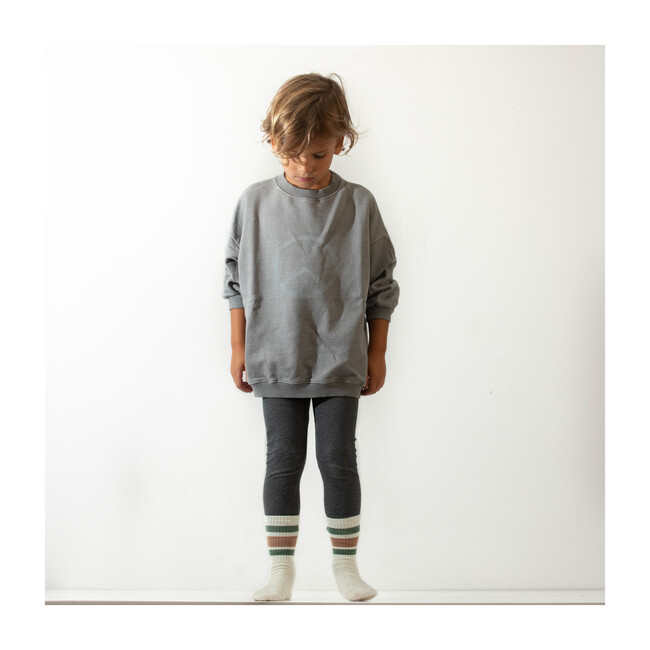 Oversized Peace Sweater, Grey